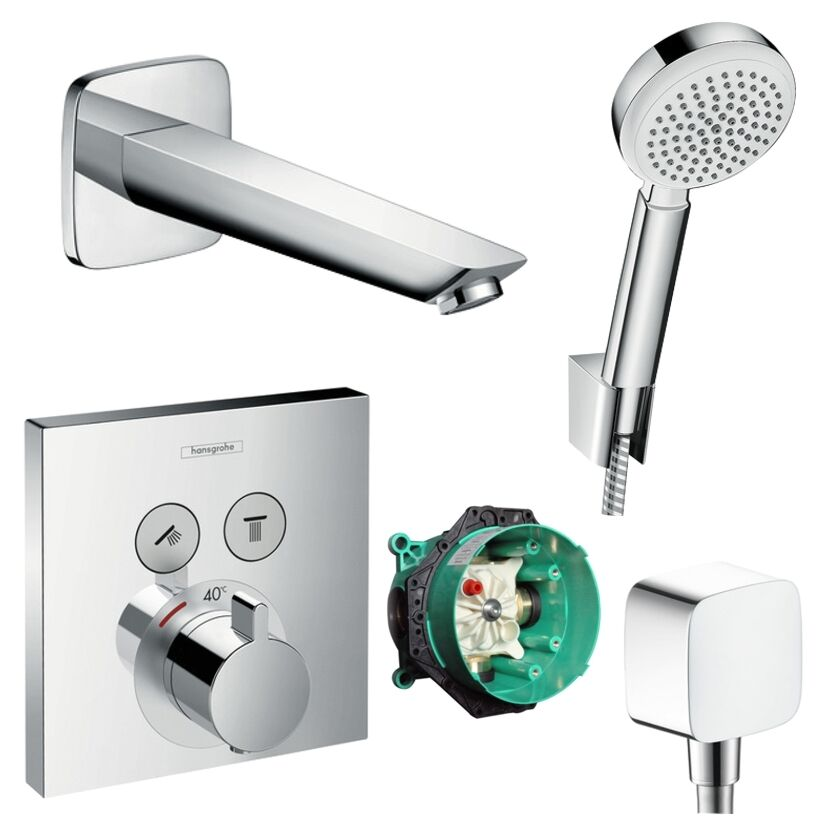 Hansgrohe Shower Select Thermostat Unterputz Badewannenarmatur Wanneneinlauf Set