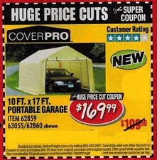 Item 2 Harbor Freight Super Coupon For A Cover Pro 10 Ft. X 17 Ft. Portable  Garage  Harbor Freight Super Coupon For A Cover Pro 10 Ft. X 17 Ft.  Portable ...