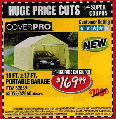 Harbor Freight Super Coupon for a Cover Pro 10 Ft. x 17 Ft ...