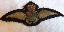 Original Military WWII South African Air Force Pilot Wings SAAF Badge (3001)