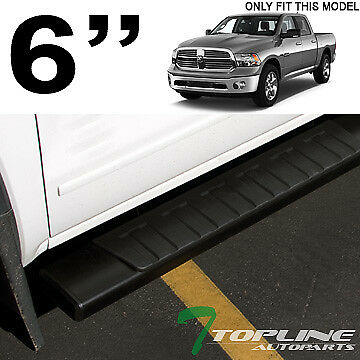 """For 2009-2018 Ram 1500 Quad 6/"""" OE Style Aluminum Black Side Step Running Boards"""