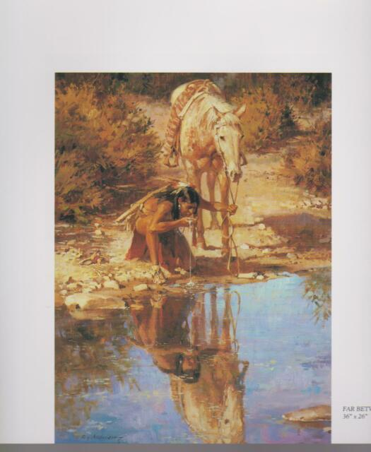 "Roy Andersen,  ""Far Between Water"",--Southwest Art Print of Native American's"