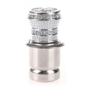 12V-auto-Cristal-Pedreria-ignicion-de-mechero-de-coche-plata-R2U1
