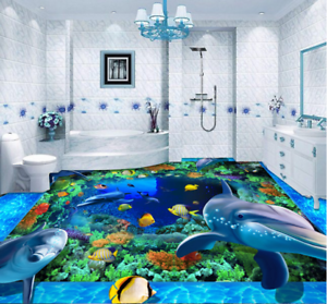 3D bluee Seabed World 78 Floor WallPaper Murals Wall Print Decal AJ WALLPAPER US