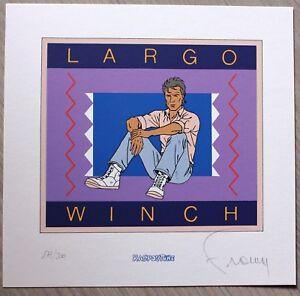 FRANCQ-LARGO-WINCH-Ex-libris-Serigraphie