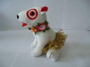Target Dog Bullseye Plush : 2007 Hawaii Aloha Skirt Dog - RARE-