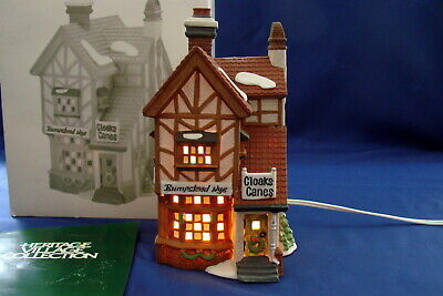 Dept 56 Dickens Village Bumpstead Nye Cloaks /& Canes