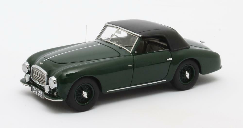 Aston Mkonstin DB2 Vantage Dhc grön –Version Closed 1952 1 43 matrix