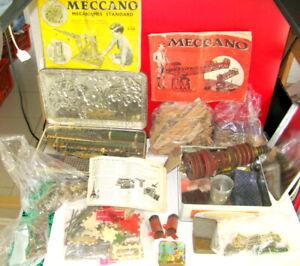 Meccano Vintage    Jouet Ancien Mecano Divers Bois Jeu!!!  lot De Pieces
