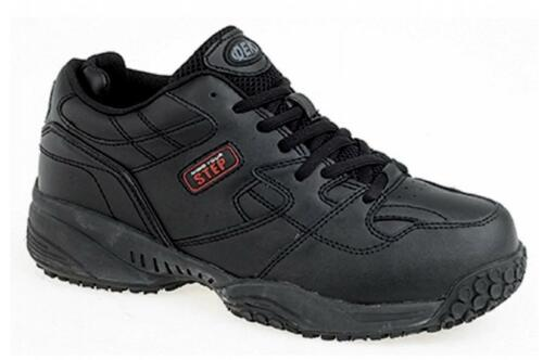 CRUISER Mens Leather 7 Eye Lace-Up Anti Slip Padded Comfy Comfort Trainers Black