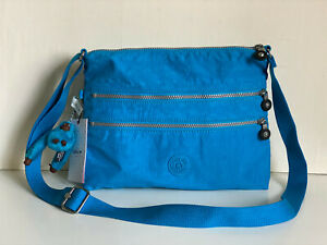 NEW-KIPLING-ALVAR-CROSSBODY-MESSENGER-SLING-SHOULDER-BAG-PURSE-IN-AQUA-BLUE-SALE