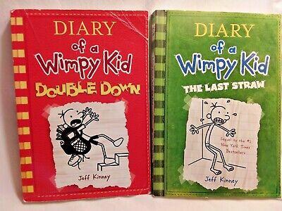 2 Diary Of A Wimpy Kid Books Double Down Last Straw Ebay