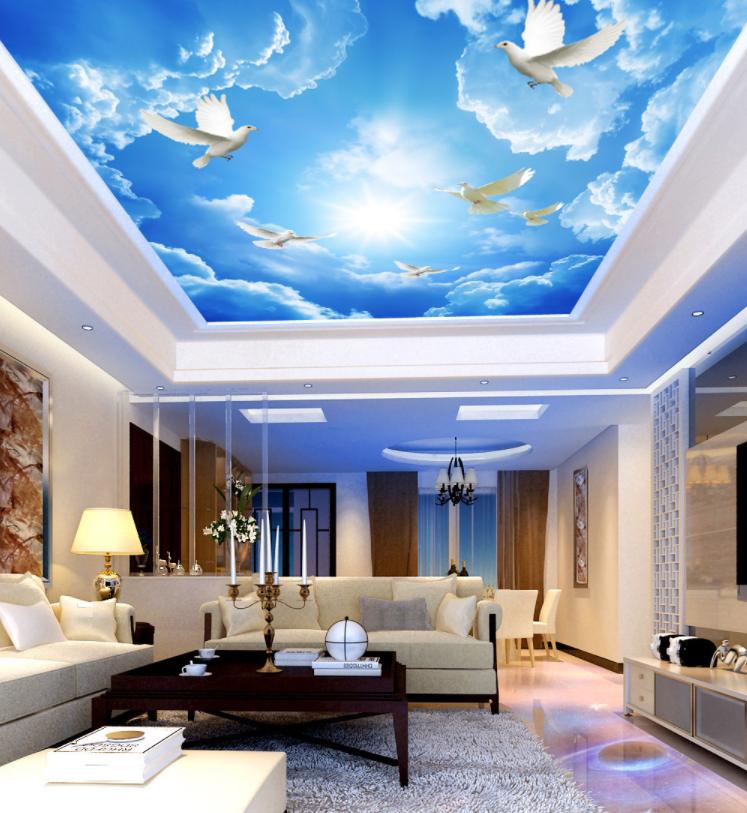 3D Sky Clouds Pigeon 77 Wallpaper Mural Wall Print Wall Wallpaper Murals US