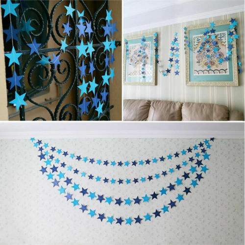 Paper Birthday Bunting Banner Paper Flag Garland Party Wedding Hanging Decor