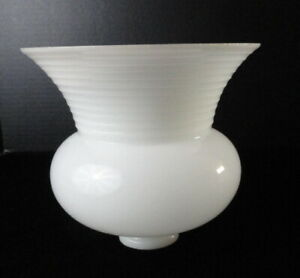 Vintage-Antique-Milk-White-Glass-Flared-Lamp-Light-Globe-Shade-Replacement