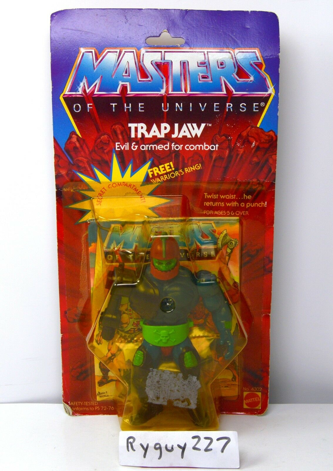 MOTU, Trap Jaw, Masters of the Universe, MOC, carded, figure, He-Man, sealed