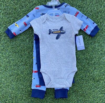 Vehicles Blue CHILD OF MINE Infant Boys/' 3 Pk Short Sleeve Bodysuits Red