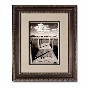 Set Of 2 16x20 Ornate Bronze Picture Frameglass Oysterespresso