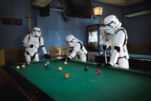 Printed Canvas Picture StormTroopers Playing Snooker 4 Sizes Available!