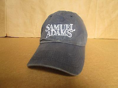 Vtg SAM ADAMS  Logo Boston Beer Co. Navy Blue Baseball Cap / Trucker Hat, One Sz