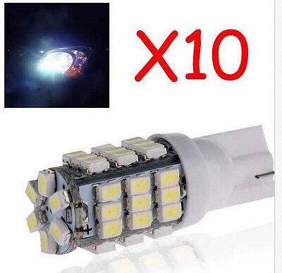 10X T10 SUPER BRIGHT White W5W 168 194 42 SMD LED Side Car Light Wedge Bulb DC12