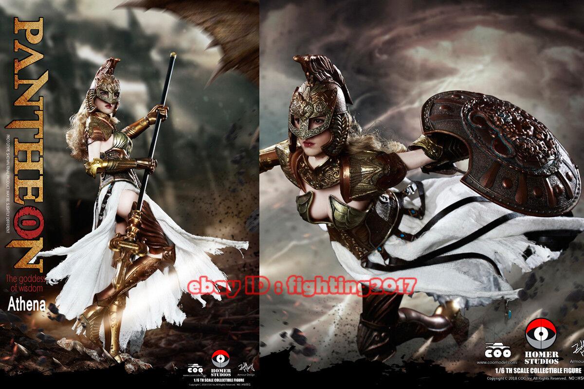 COOMODEL 1 6th X HOMER HS001 Pantheon - Athena Goddess Of Wisdom Die-Cast Alloy