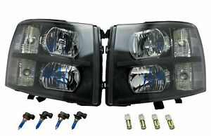 Black-Euro-Headlights-Head-Lights-w-Harness-for-07-14-Silverado-1500-2500-3500