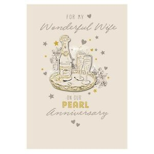 For My Wonderful Wife On Our Pearl Anniversary Card   eBay