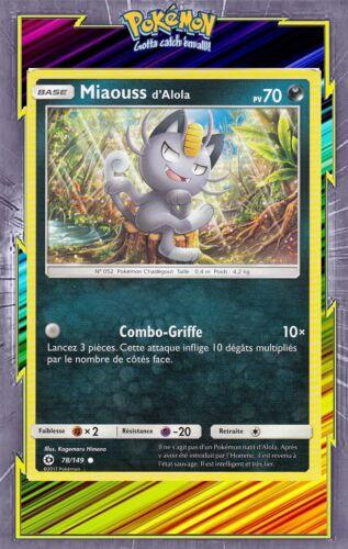 French designer card pokemon sun and moon 78//149 Miaouss d/' Alola-sl1