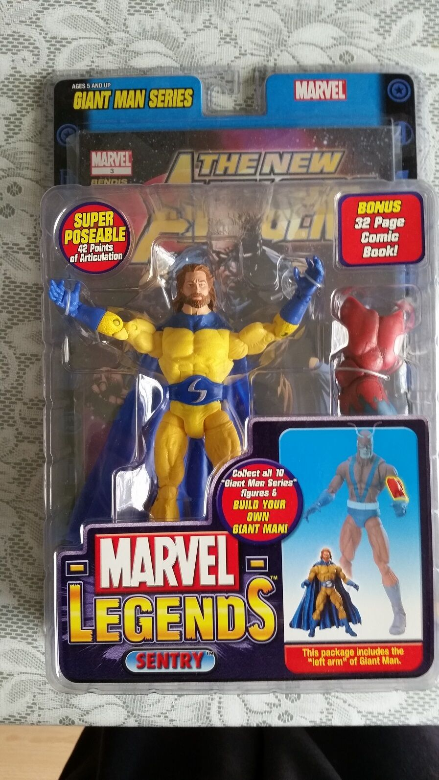 Marvel Legends SENTRY (WITH BEARD)  Chase Variant  GIANT MAN SERIES ( RARE) 2006