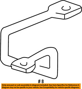 FORD OEM 15-16 F-150 Hood-Lock Latch Striker FL3Z16K689A