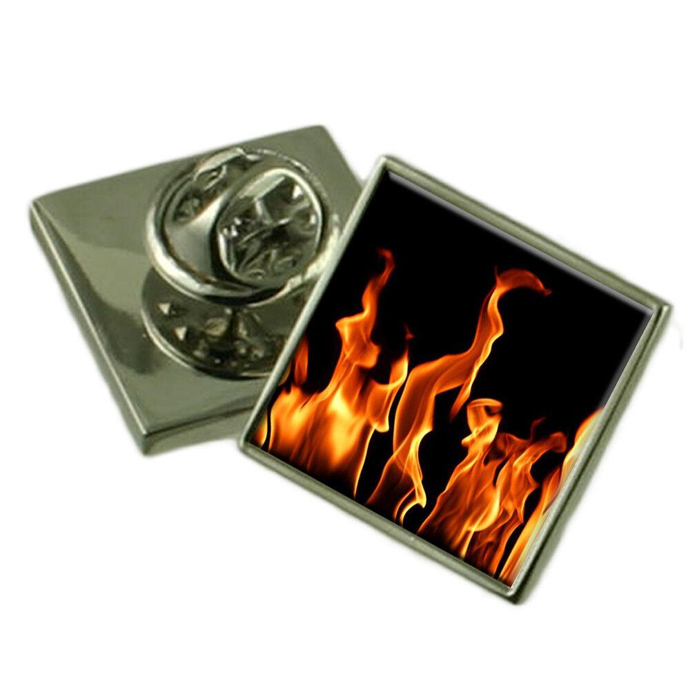 Flames of Fire argentoo Sterling bavero bavero bavero pin Scatola Regalo 607fde