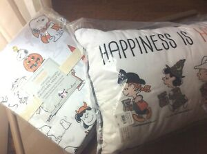 Pottery Barn Kid Pillow 12x20 Sheet Set Twin Snoopy