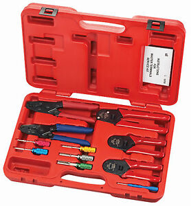 s g tool aid 18700 master terminals service 11 piece crimper set deutsch ebay. Black Bedroom Furniture Sets. Home Design Ideas