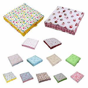 Cotton Floral Large Floor Cushions Kids Garden Dining Chair Seat Pad Booster Ebay