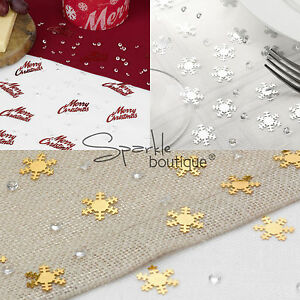 Snowflake-Christmas-Table-Confetti-amp-Crystals-Winter-Wedding-Scatter-Decoration