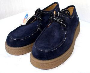 Zapatos-planos-HUSH-PUPPIES-piel-ANTE-azul-Blue-Shoes-38-NUEVOS-slipper-cuna