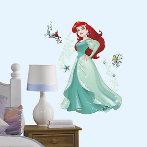DISNEY-PRINCESS-SPARKLING-ARIEL-Wall-Decals-Little-Mermaid-Room-Decor-Stickers