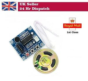 Details about ISD1820 Audio Sound Recording Module with Microphone AND  Speaker Arduino Pi