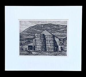 "Luigi Lucioni signed etching ""Shadow and Substance"""
