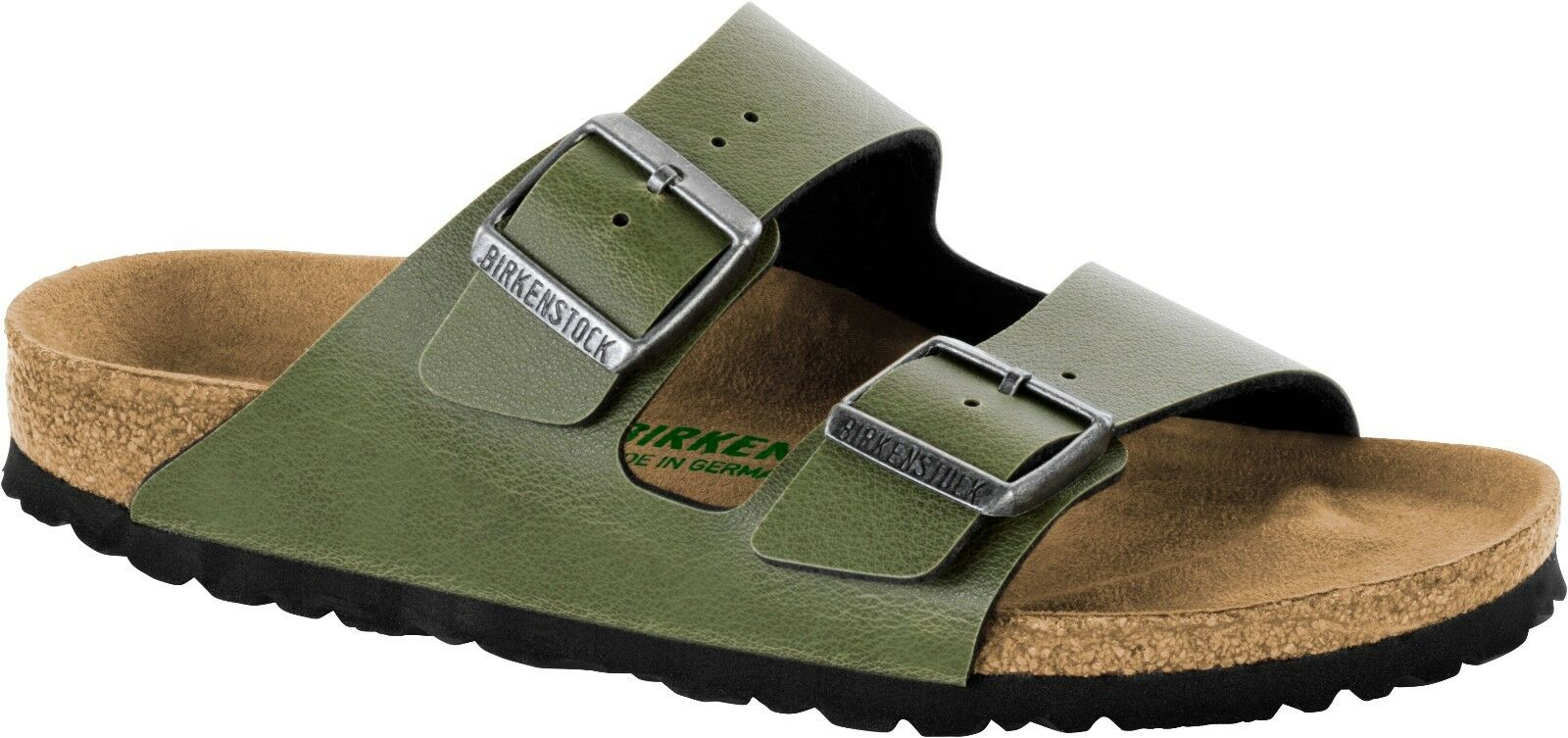 Birkenstock Arizona VEGAN  Birko-Flor Pull Up Olive normal 1009982