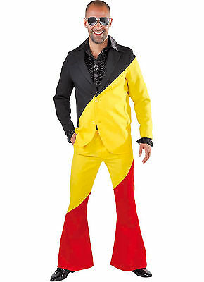 Eurovision Suit - Mr Germany / Belgium - Blk/Yellow/Red Suit