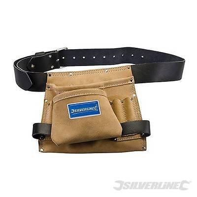 GüNstiger Verkauf Leder Nagel & Werkzeugtasche 8 Tasche 260 X 230mm Heavy Duty Wildleder Und Leder