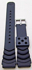 "NEW 9"" 20mm Black SEIKO Rubber Wave Watch Band with Pins R00B011J9 Replacement"