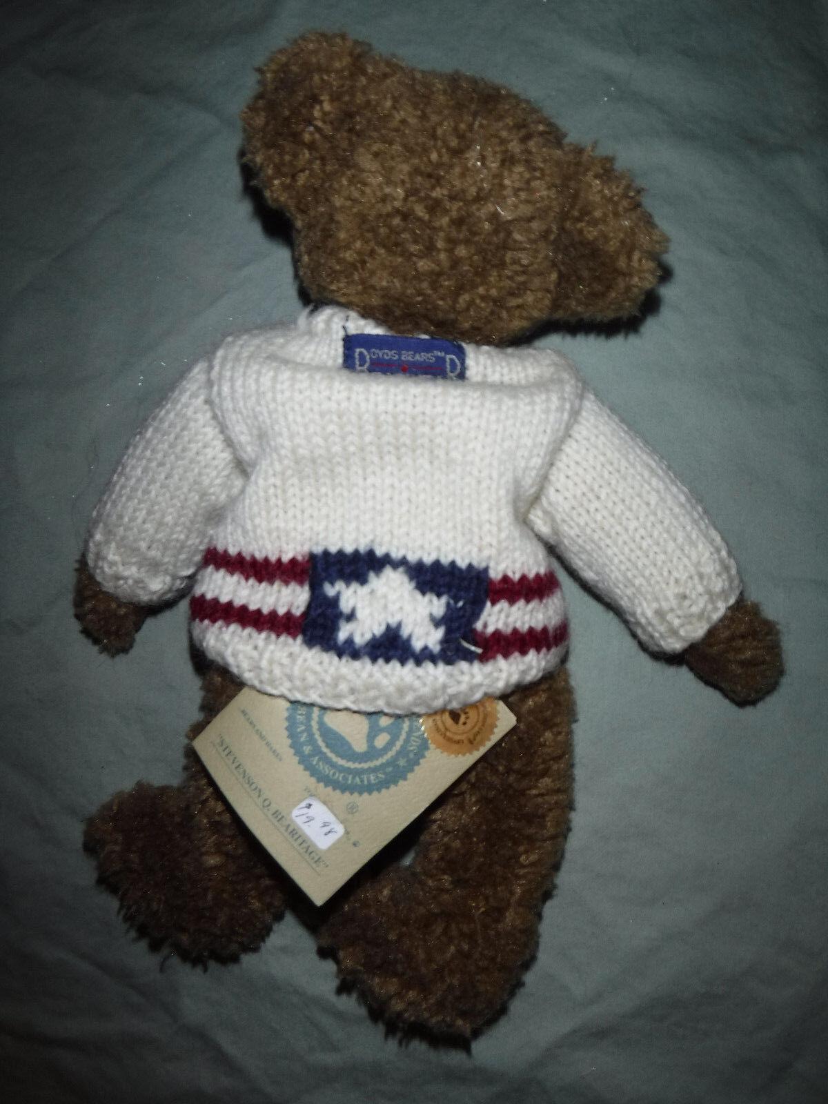 Stevenson Q. Bearitage Boyds Bears 11  USA Plush Soft Toy Stuffed Animal