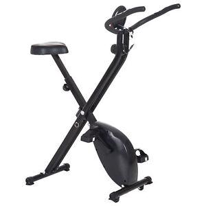 Foldable Exercise Bike Stationary Upright Bike Cardio Workout 8-Level Resistance