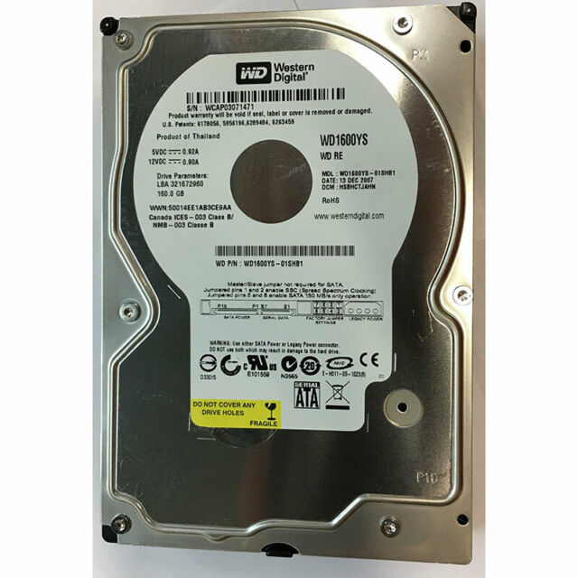 Western Digital 160GB, 7200RPM, SATA - WD1600YS