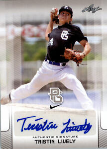 Tristin Lively 2017 Leaf Perfect Game Autograph NIKE All-American Auto Rookie
