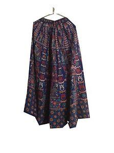 Cheap Price Om New Vintage Indian 100% Cotton Block Printed Blue Long Lehenga Skirt Lp51 Wedding Dresses Wedding & Formal Occasion