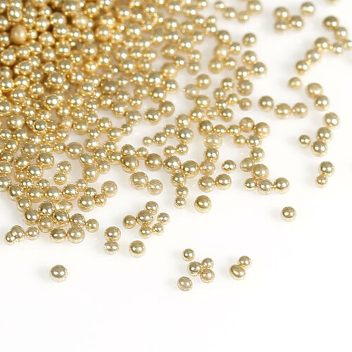 Pedicure 25g Gold No Hole Micro Beads Caviar Manicure Cards Crafts